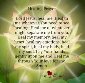 Jesus Healing Prayer - Godly Woman Daily (Facebook)